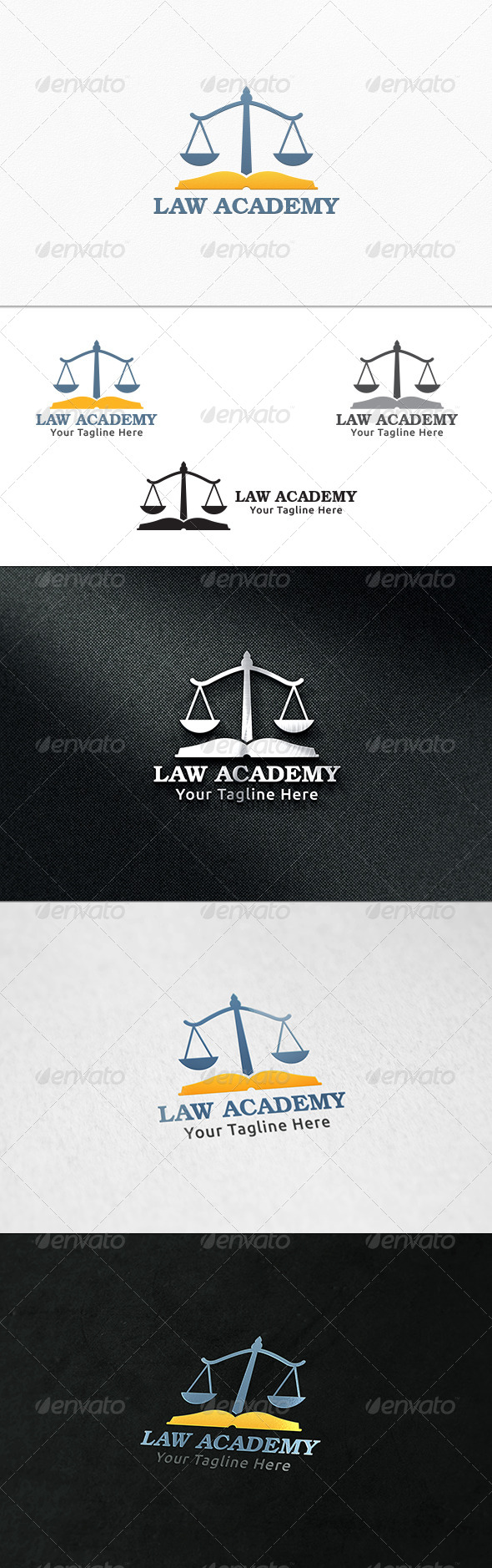 GraphicRiver Law Academy Logo Template 7799441