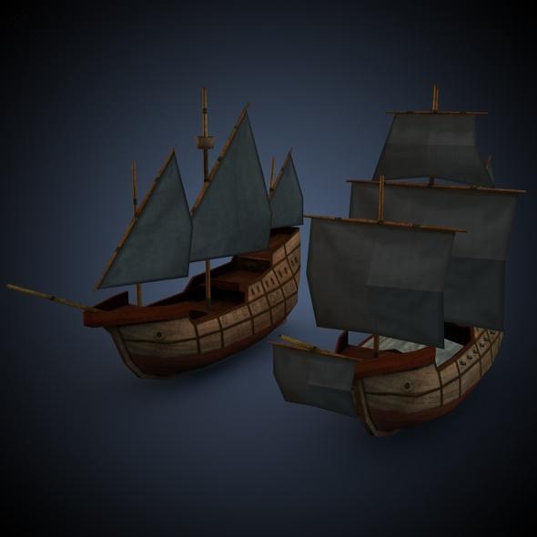 3DOcean Age of Sail Carrack 7793336