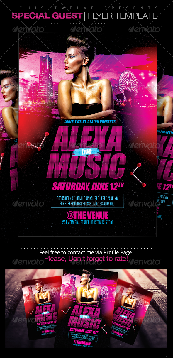 GraphicRiver Special Guest Dj Flyer Template 7801474