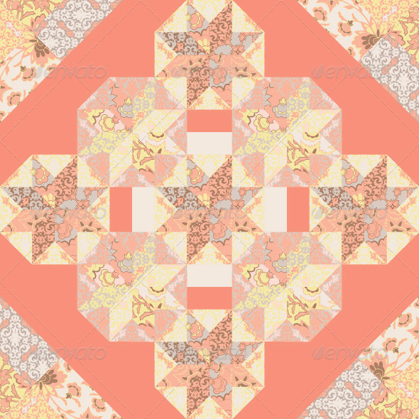 GraphicRiver Quilt Abstract Seamless Pattern 7801573