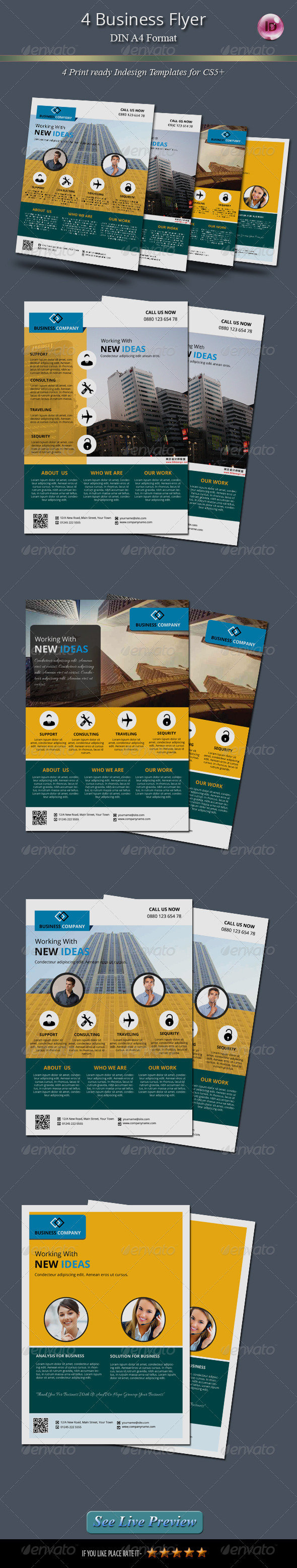 GraphicRiver 4 Business Flyer 7801769