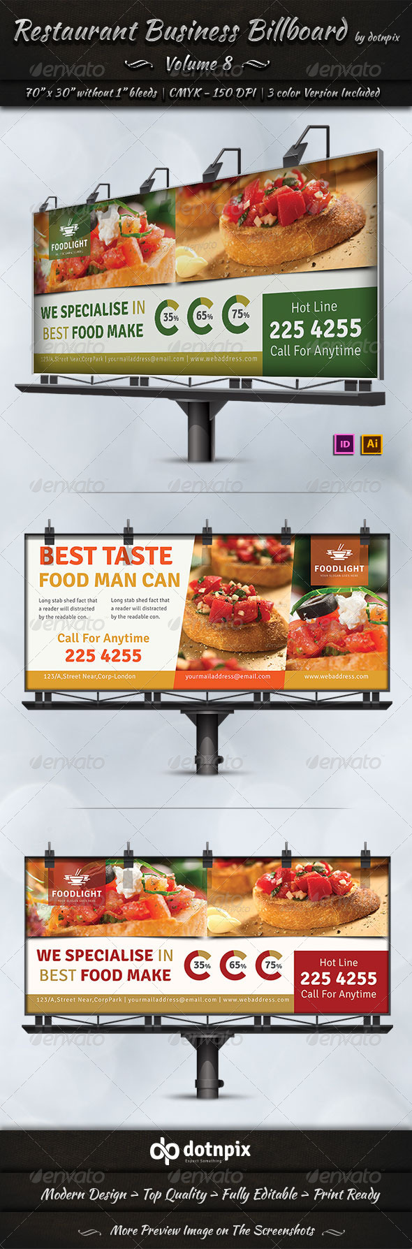 GraphicRiver Restaurant Business Billboard Volume 8 7801972