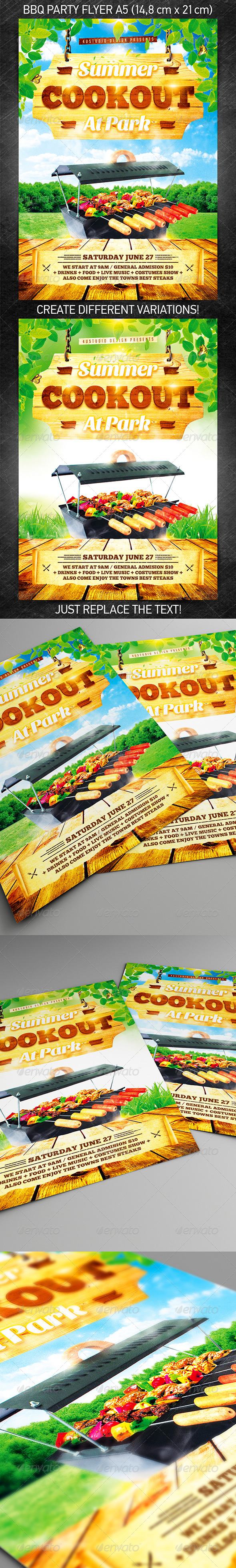 GraphicRiver BBQ party flyer 7771508