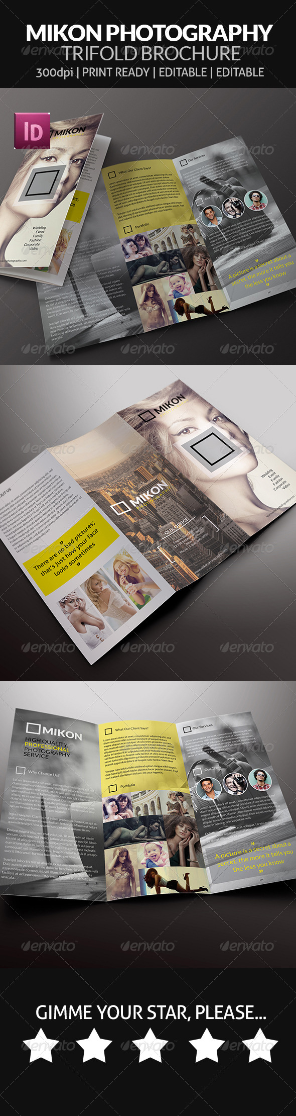 GraphicRiver Mikon Photography Trifold Brochure 7804191