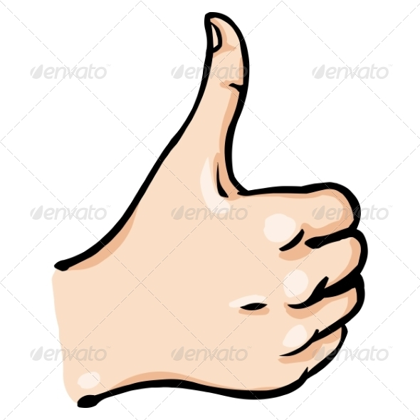 GraphicRiver Cartoon Thumbs Up 7804823