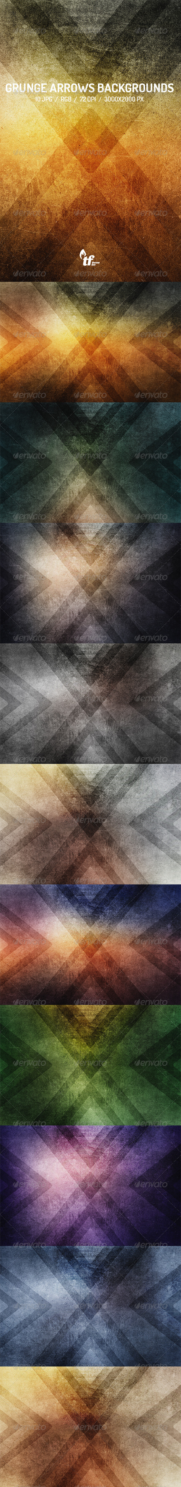 GraphicRiver Grunge Arrows Backgrounds 7805650