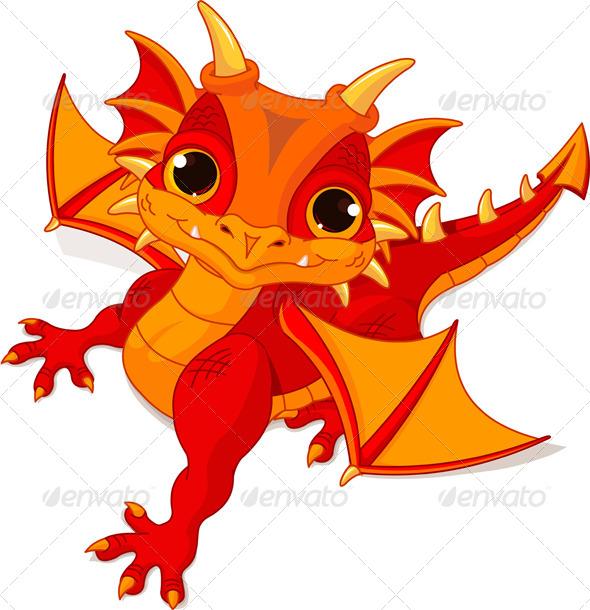GraphicRiver Baby Dragon 7807239