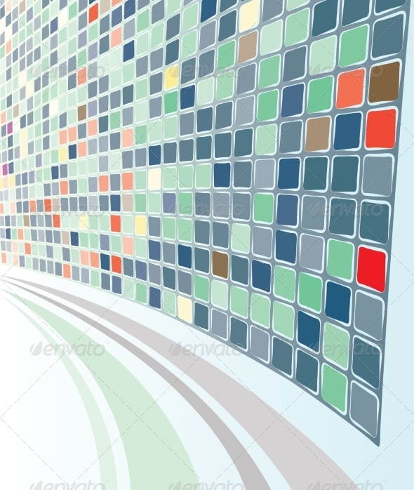 GraphicRiver Perspective Mozaic Background 7808118