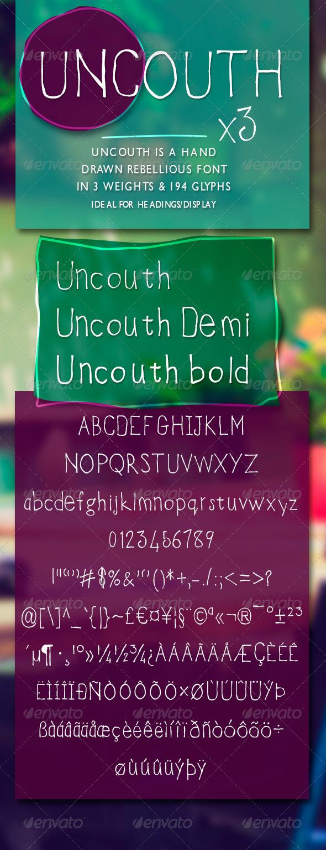 GraphicRiver Uncouth Rebellious Handrawn Font 7808121