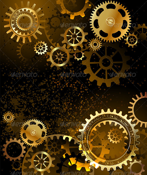 GraphicRiver Background with Gears 7808962