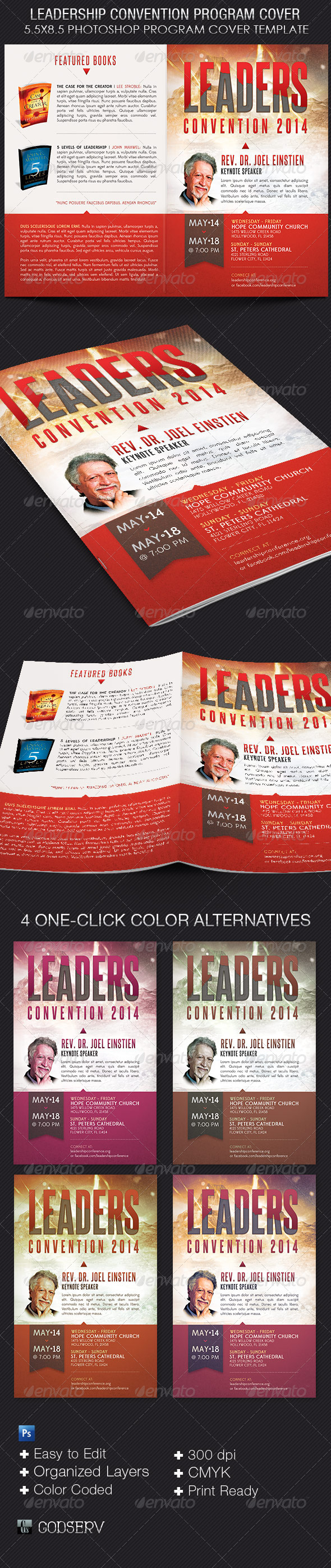 GraphicRiver Leadership Convention Program Cover Template 7809227