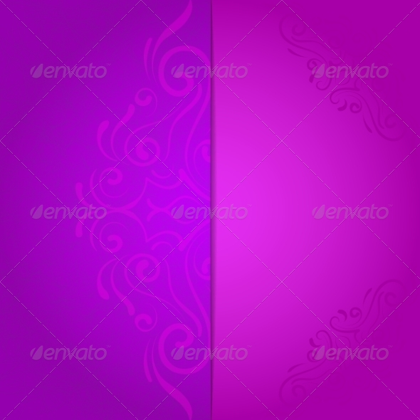 GraphicRiver Invitation Background with Violet Floral Pattern 7809784