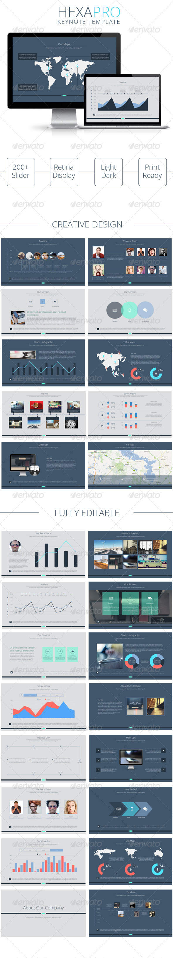 GraphicRiver HexaPro Creative Keynote Template 7770344