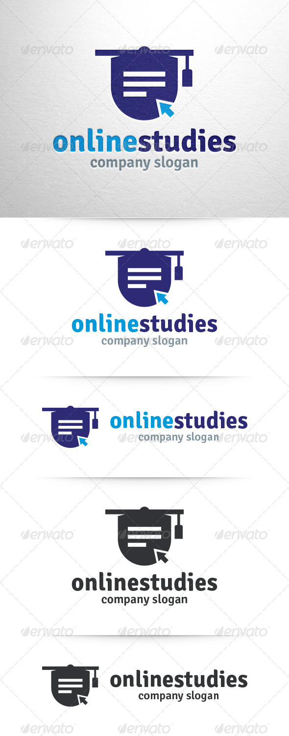 GraphicRiver Online Studies Logo Template 7809949
