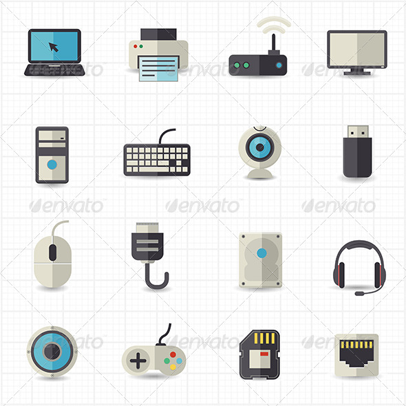GraphicRiver Computer Technology Icons 7810451