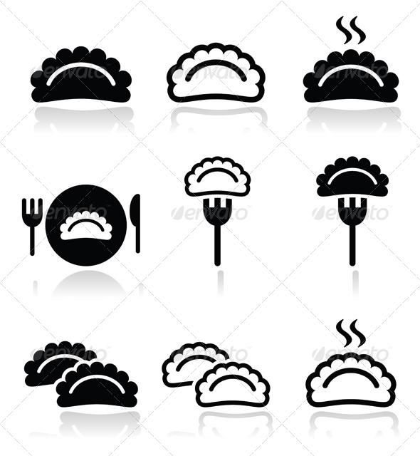 GraphicRiver Dumplings Food Icons Set 7812418