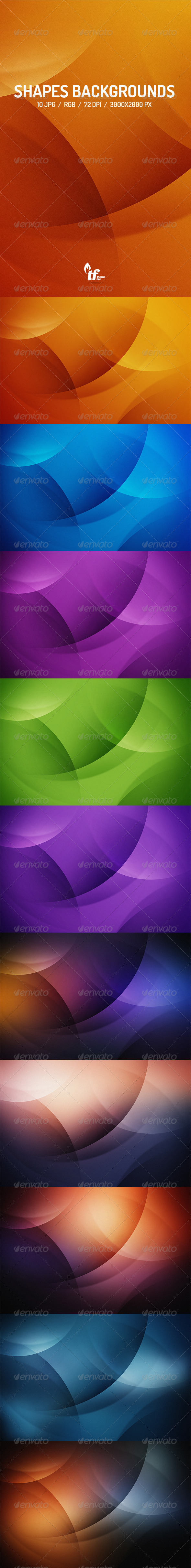 GraphicRiver Shapes Backgrounds 7812806