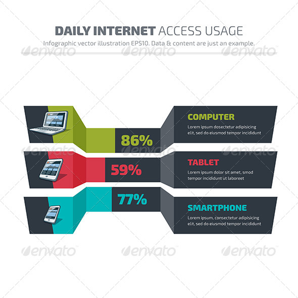 GraphicRiver Abstract Infographics of Daily Internet Usage 7813466