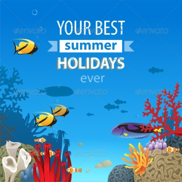 GraphicRiver Summer Holidays Background 7813485