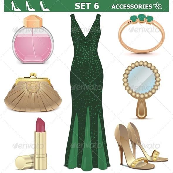 GraphicRiver Female Accessories Set 6 7814190