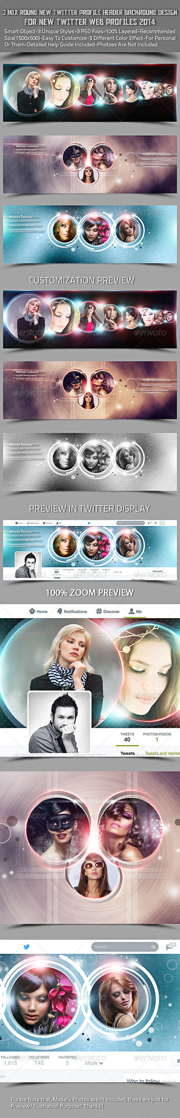 GraphicRiver 3 Mix Round New Twitter Header Profile Background 7814192