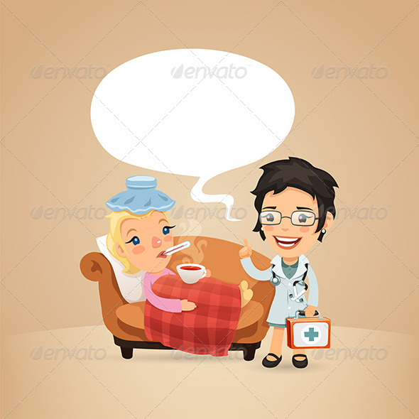 GraphicRiver Female Doctor Visits a Sick Woman 7802730