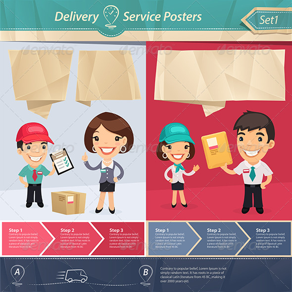 GraphicRiver Delivery Service Posters 7802677