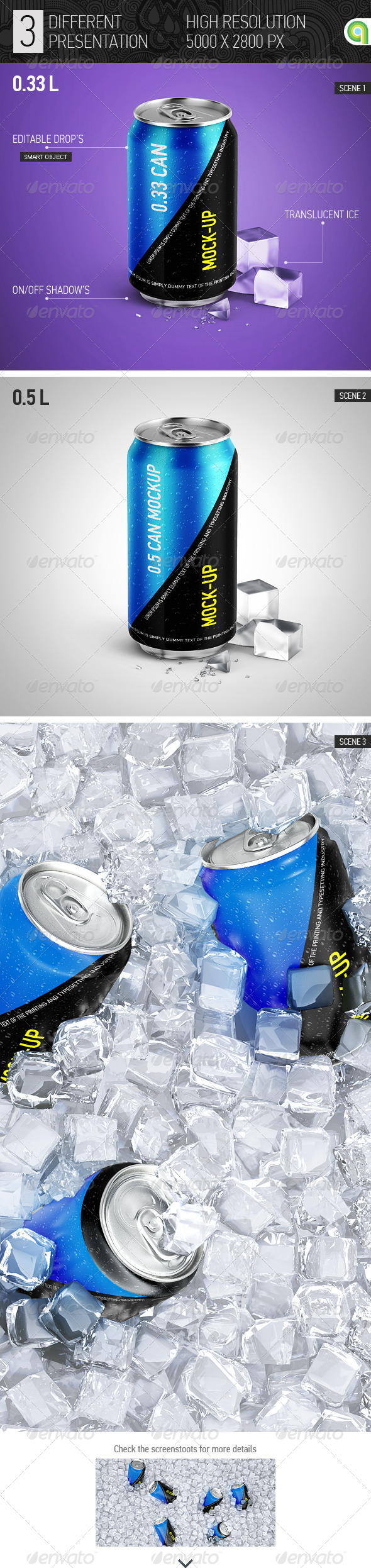 GraphicRiver Soda Can Mock-up 7814438