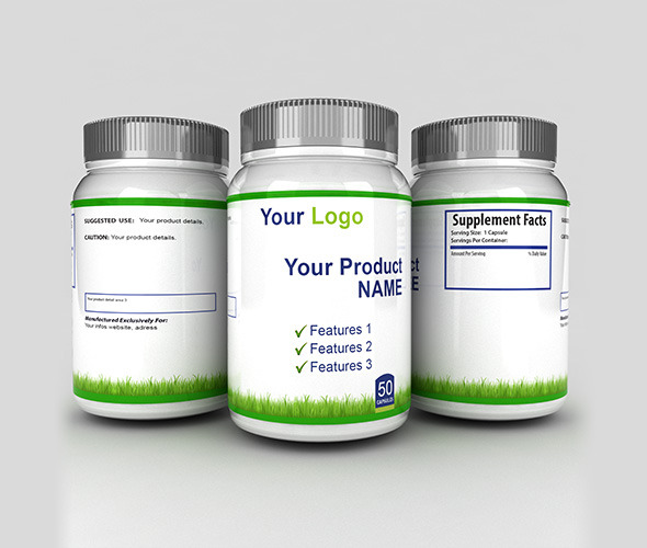 3DOcean 3D Medicine Bottles with sides 7814463