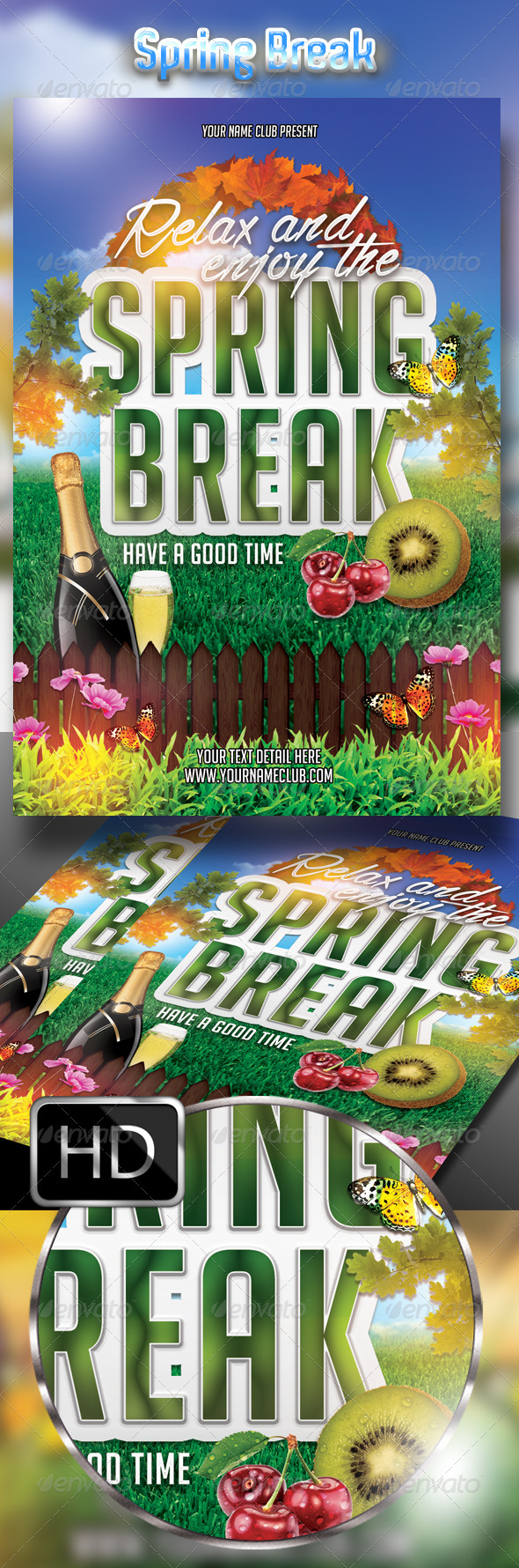 GraphicRiver Relax and Enjoy The Spring Break Party 7815241
