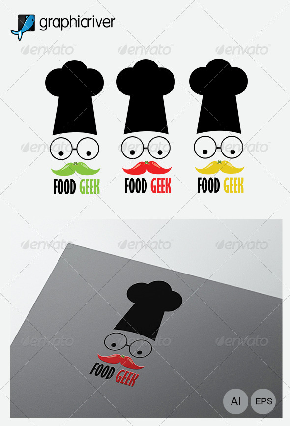 GraphicRiver Food Geek Logo Template 7815686