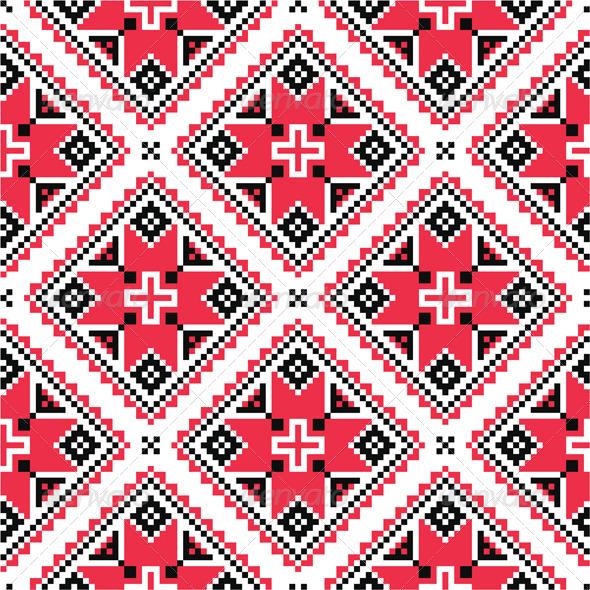 GraphicRiver Ukrainian Folk Embroidery Pattern 7816898