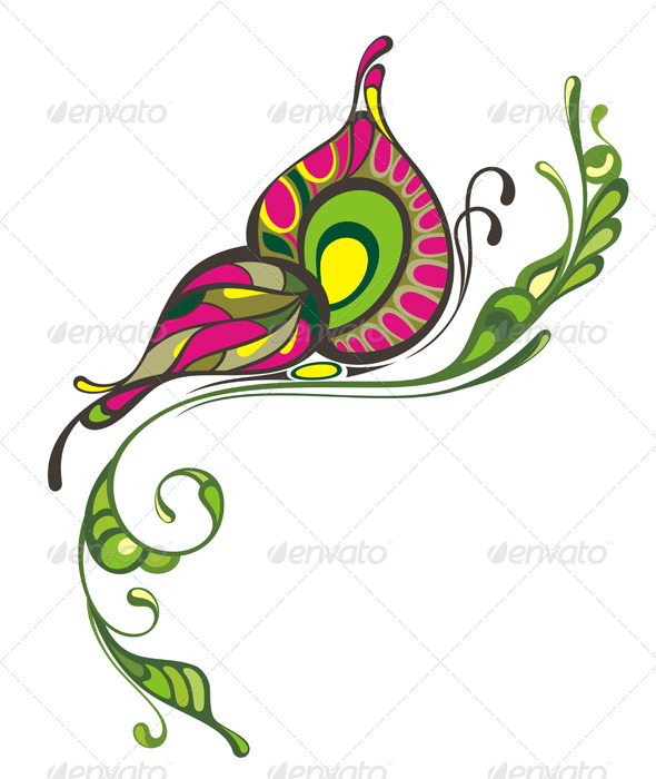 GraphicRiver Colorful Abstact Butterfly 7816899