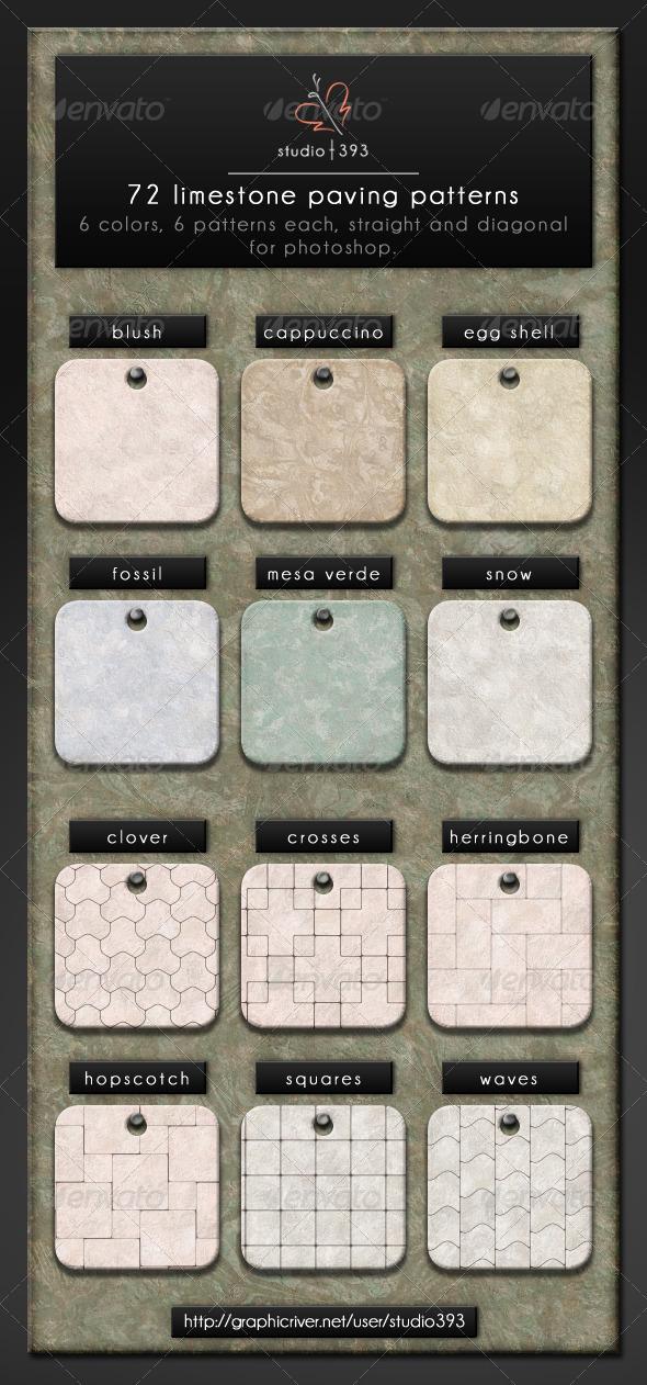 GraphicRiver 72 Limestone Pavers 7818045