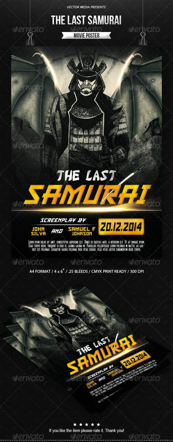 GraphicRiver The Last Samurai Movie Poster 7818407