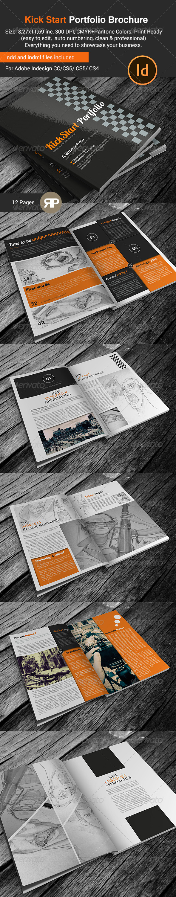 GraphicRiver New Way Portfolio Brochure Portrait Version 7819456