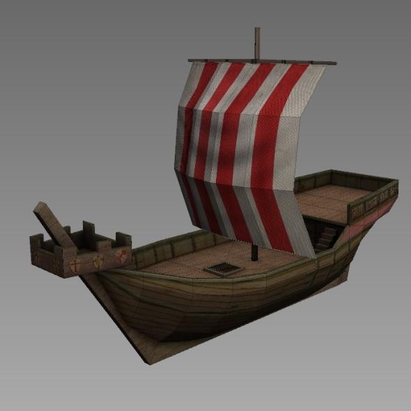 3DOcean Age of Sail Hanse Cog 7819589