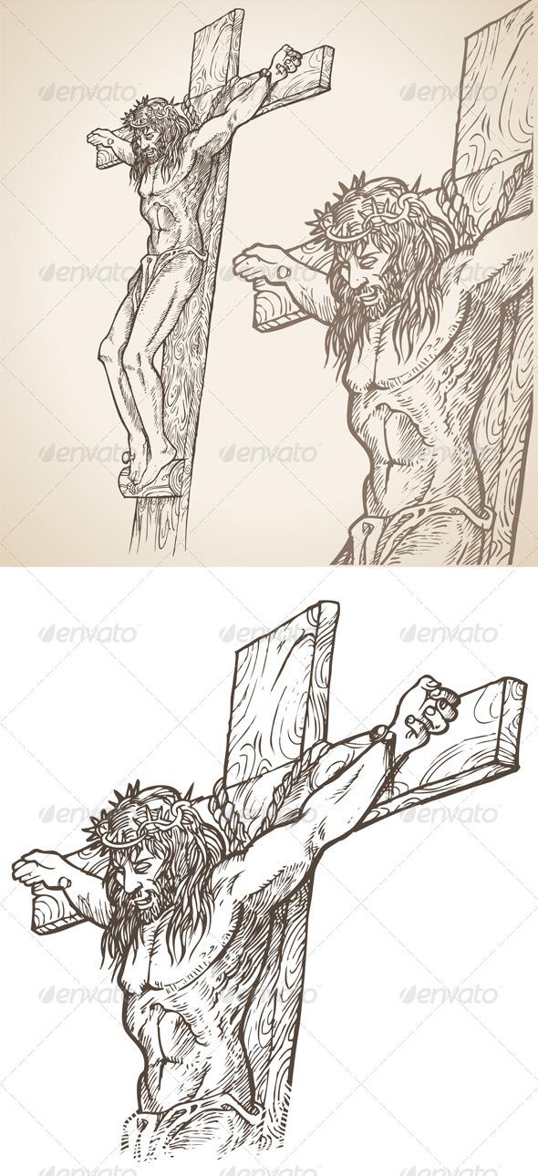 GraphicRiver Jesus Hand Drawn 7819794