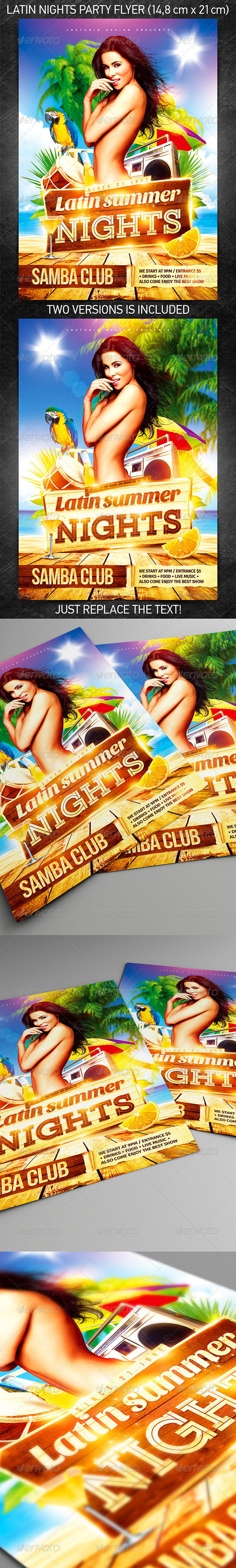 GraphicRiver Latin Nights Party Flyer 7820146