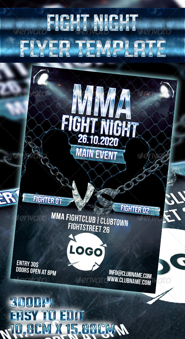 GraphicRiver Fight Night Flyer Template 7820391