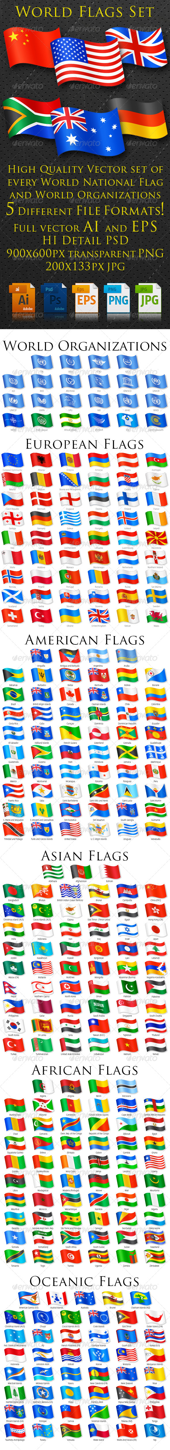 GraphicRiver World Flags Complete Set 7812184
