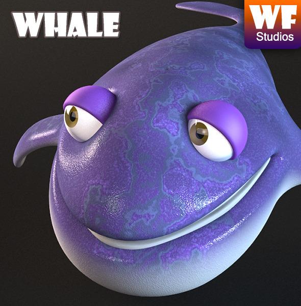 3DOcean Cartoon Whale 7821066
