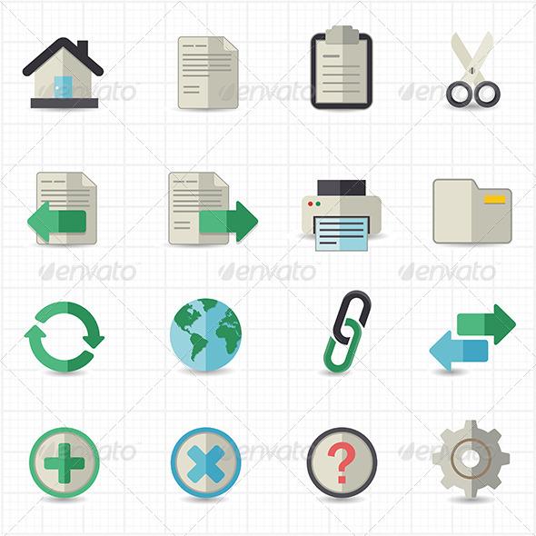 GraphicRiver Toolbar Website Icons 7821114