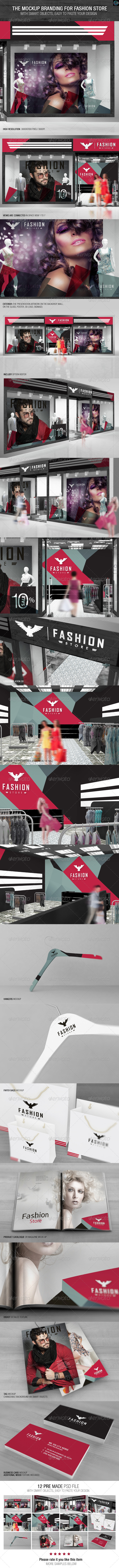 GraphicRiver The Mockup Branding for Fashion Store 7822738