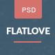 FlatLove - 優雅的扁平結婚PSD分層模板 - 娛樂事件