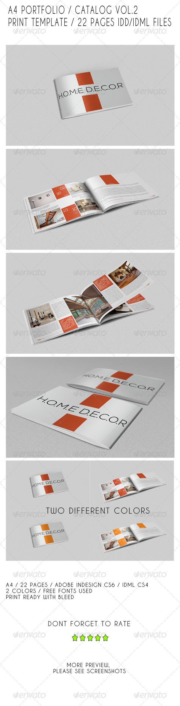 GraphicRiver A4 Portfolio Catalog Template 7823002
