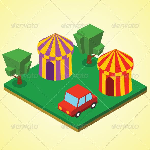 GraphicRiver Carnival Tent 7823322