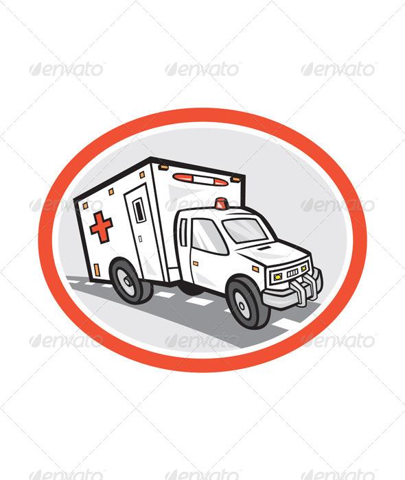 GraphicRiver Ambulance Emergency Vehicle Cartoon 7823326