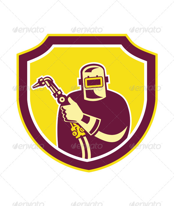 GraphicRiver Welder Holding Welding Torch in Shield 7823409