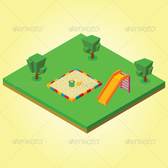 GraphicRiver Isometric Sandbox and Slides 7823410